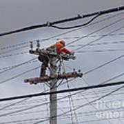 Rewiring A Power Pole Poster