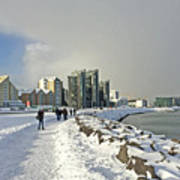 Reykjavik  Walk Way Along The Bay Iceland 2 3122018 _j2340.jpg Poster