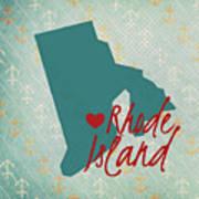 Rhode Island Anchors Poster