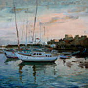 Rhodes Mandraki Harbour Poster by Ylli Haruni