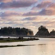 Rialto Beach Sunset On The Pacific Coast In Washington Poster