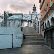 Rialto Bridge In The Morning Poster