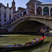 Rialto Bridge In Venice Italy Poster