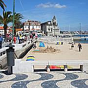Ribeira Beach In Cascais Portugal Poster