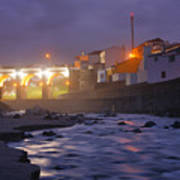 Ribeira Grande At Night Poster
