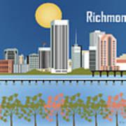 Richmond Virginia Horizontal Skyline Poster