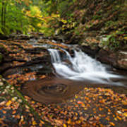 Ricketts Glen State Park Pennsylvania Autumn Waterfall Scenic Poster