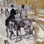 Riders On The Way To The Bois Du Bolougne Poster