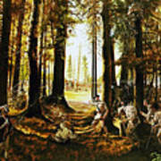 Riflemen At Saratoga Poster