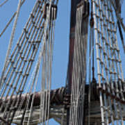 Rigging Aboard The Galeon Poster