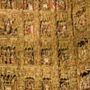 Right Half - The Golden Retablo Mayor - Cathedral Of Seville - Seville Spain Poster