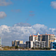 Ringling Causeway Sarasota Skyline West View Poster