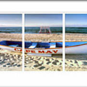 Cape May Beach Scene Series Poster