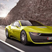 Rinspeed Etos Concept Self Driving Car Poster