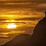 Rio De Janeiro Christ Statue Poster