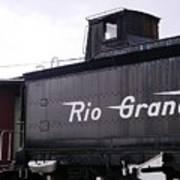 Rio Grande Rail Cars Poster