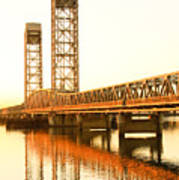 Rio Vista Bridge Sunrise Poster by Troy Montemayor