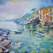 Riomaggiore Cinque Terre Italy Poster