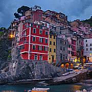 Riomaggiore In Cinque Terre Italy Poster