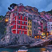 Riomaggiore In Cinque Terre Italy Painterly Poster