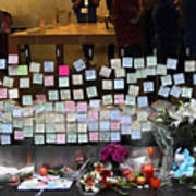 Rip Steve Jobs . October 5 2011 . San Francisco Apple Store Memorial 7dimg8561-1 Poster by Wingsdomain Art and Photography