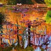 Ripples On Fall Pond Poster