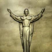 Risen Christ In Gold Poster