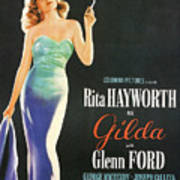 Rita Hayworth As Gilda Poster