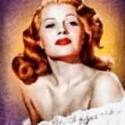 Rita Hayworth, Vintage Actress Poster