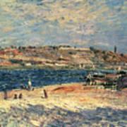 River Banks At Saint-mammes Poster