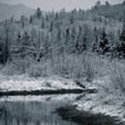 River Bend Winter Poster