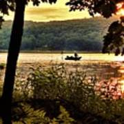 River Fishing  Poster