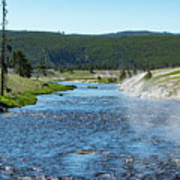 River In Yellowstone Poster