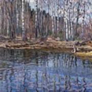 River Landscape Nikolai Petrovich Bogdanov-belsky Poster