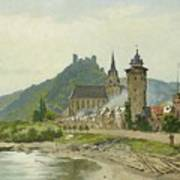 River Landscape Of The Rhine Poster