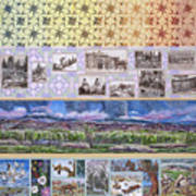 River Mural Summer Panel Top Half Poster