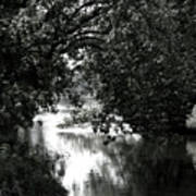 River Passage In Black And White Poster