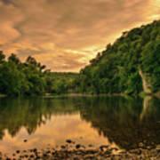 River Sunset Poster