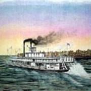 Riverboat Bald Eagle Poster