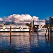 Riverboats Of Sacramento Poster