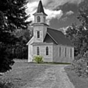 Riverside Presbyterian Church 1800s Bw Poster
