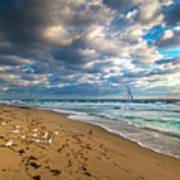 Riviera Beach Sunrise Poster