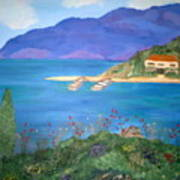 Riviera Remembered Poster by Alanna Hug-McAnnally