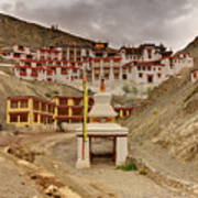 Rizong Monastery Ladakh Jammu And Kashmir India Poster
