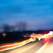 Road At Night 3 Poster