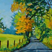 Road Through Barrenridge Poster