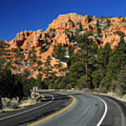Road Through Red Canyon State Park Poster
