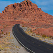 Road Through Valley Of Fire, Nv Poster
