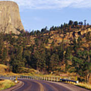 Road To Devils Tower Crossing Belle Fourche River Poster by Jeremy Woodhouse