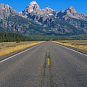 Road To Grand Teton National Park Poster
